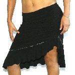 BLACK ROUCHED SALSA SKIRT